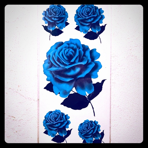 034f02802 Other | Temporary Blue Rose Tattoos | Poshmark